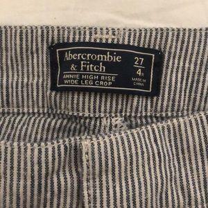 Abercrombie & Fitch Pants - Striped Annie high rise wide leg crop pants